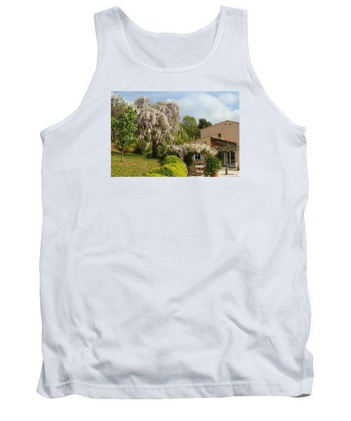 Tank Top featuring the photograph Wisteria by Richard Patmore