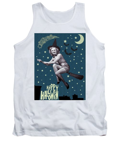 Witch Fly In Broom Tank Top