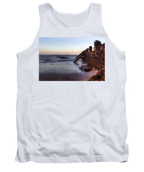 Withernsea Groynes At Sunset Tank Top