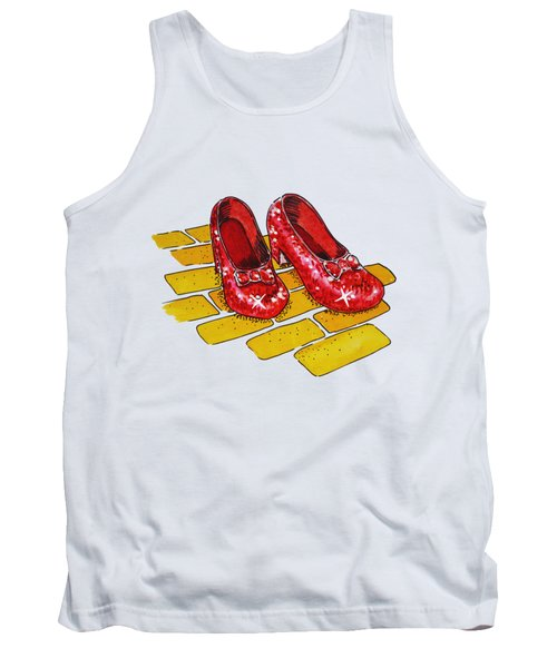 Wizard Of Oz Ruby Slippers Tank Top