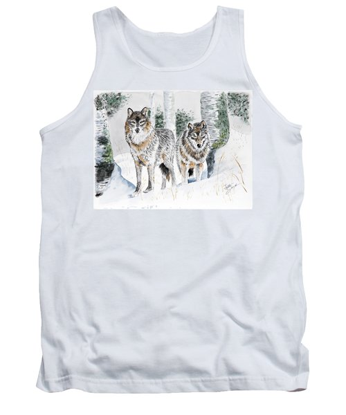 Wolves In The Birch Trees  Tank Top