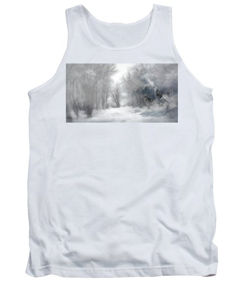 Tank Top featuring the photograph Wolves In The Mist by Andrea Kollo