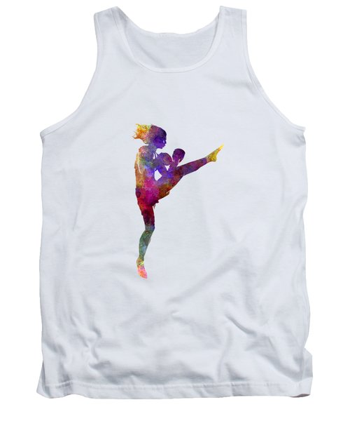 Woman Boxer Boxing Kickboxing Silhouette Isolated 01 Tank Top