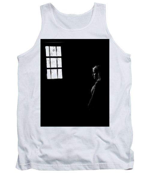 Woman In The Dark Room Tank Top by Ralph Vazquez