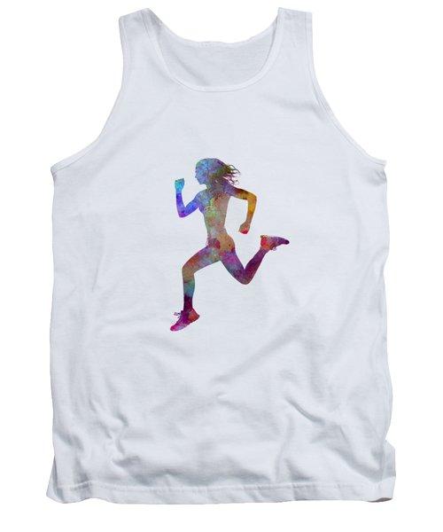 Woman Runner Running Jogger Jogging Silhouette 01 Tank Top