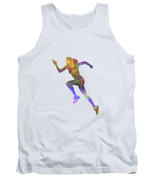 Woman Runner Running Jogger Jogging Silhouette 03 Tank Top