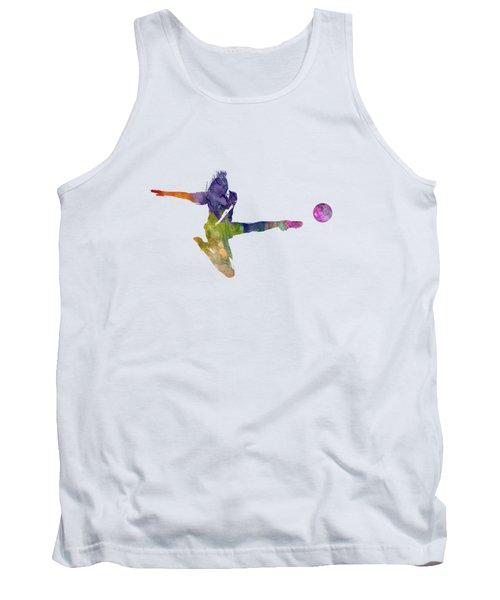 Woman Soccer Player 04 In Watercolor Tank Top