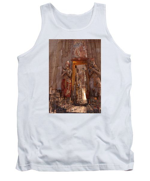 Tank Top featuring the digital art Wonders Door To The Luxor by Te Hu