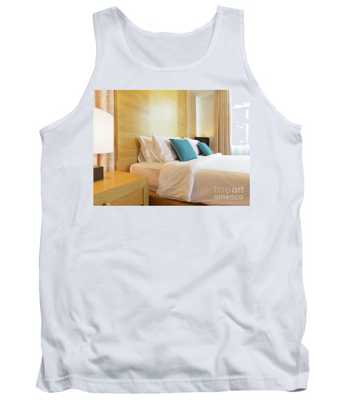 Tank Top featuring the photograph Wood Bed by Atiketta Sangasaeng