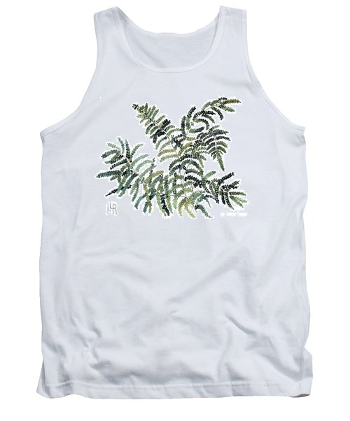 Tank Top featuring the painting Woodland Maiden Fern by Laurie Rohner