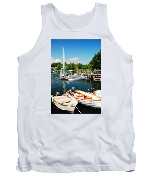 Tank Top featuring the photograph Woods Hole Harbor by James Kirkikis