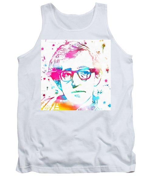 Woody Allen Paint Splatter Tank Top