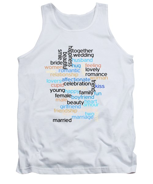 Tank Top featuring the drawing Words Of Love by Bill Cannon