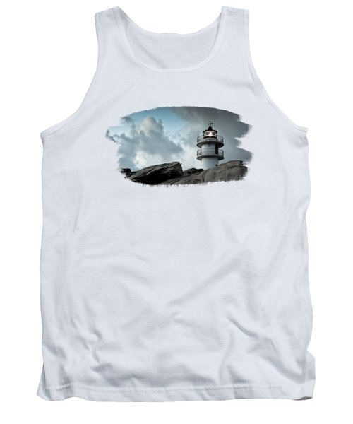 Working Lighthouse Isolated On White Tank Top