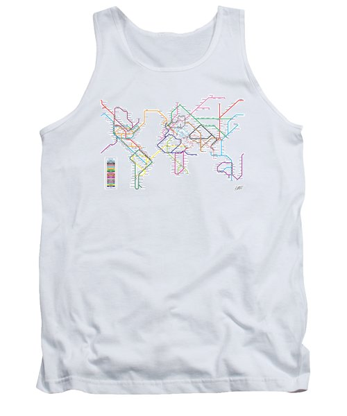 World Metro Tube Subway Map Tank Top