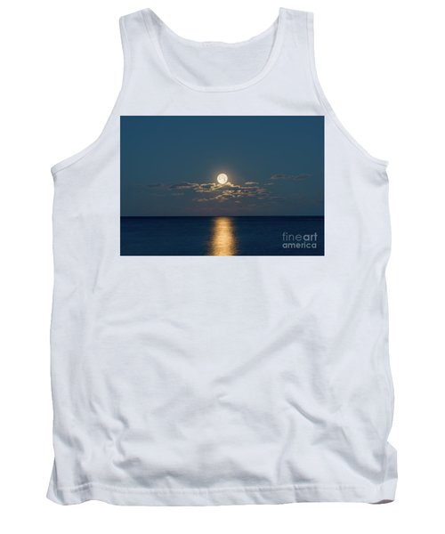 Worm Moon Over The Atlantic Tank Top