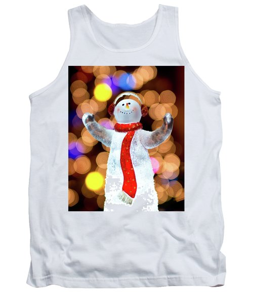 Worshiping Snowman Tank Top