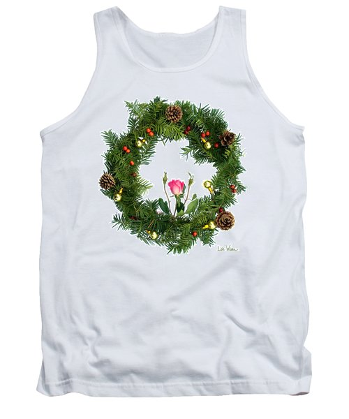 Wreath With Rose Tank Top by Lise Winne