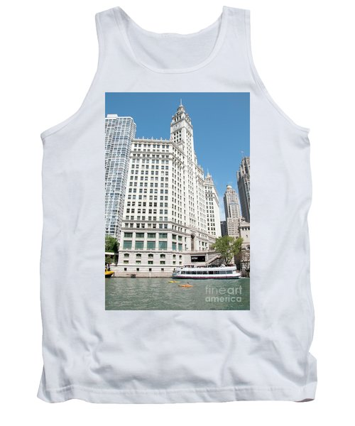 Wrigley Building Overlooking The Chicago River Tank Top