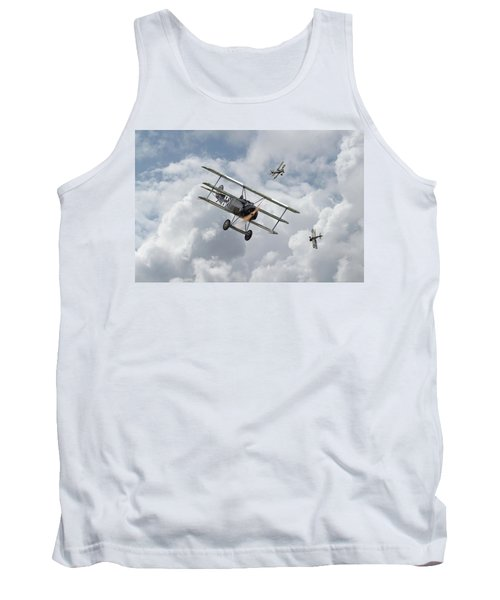 Tank Top featuring the photograph Ww1 - Fokker Dr1 - Predator by Pat Speirs