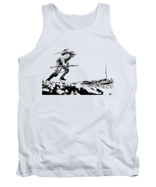 Wwii Marine Crosses Death Valley Okinawa Tank Top