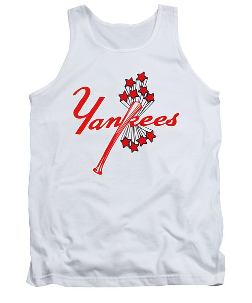 Tank Top featuring the digital art Yankees Vintage by Gina Dsgn