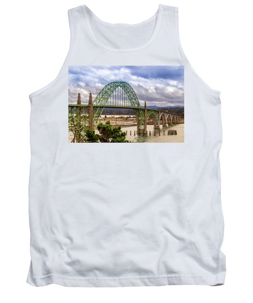 Tank Top featuring the photograph Yaquina Bay Bridge by James Eddy