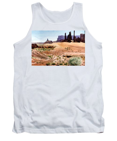 Yei Bi Chei And Totem Poles Tank Top by Donald Maier