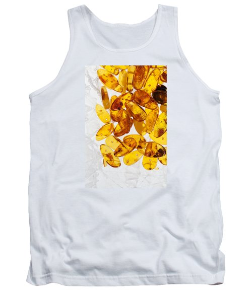 Tank Top featuring the photograph Yellow Amber Stones  by Andrey  Godyaykin