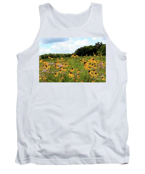 Yellow Cone Flowers Tank Top