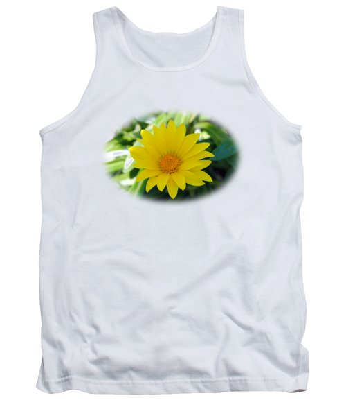 Yellow Flower T-shirt Tank Top by Isam Awad
