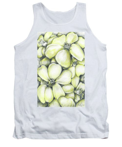 Yellow Flowers Pencil Tank Top