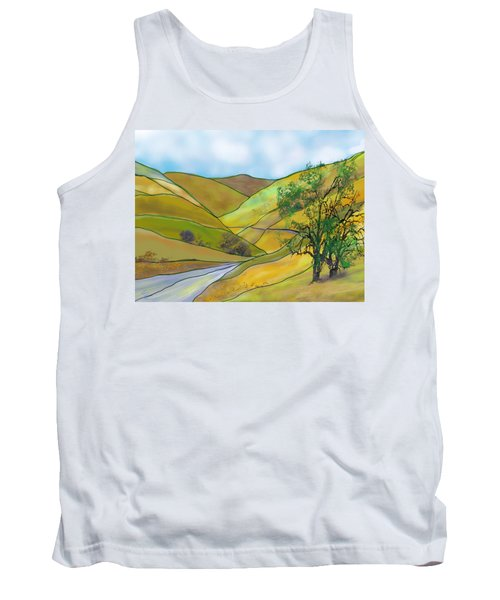 Yellow Foothills Tank Top