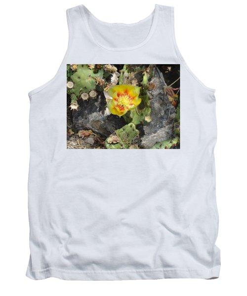 Yellow Cactus Flower Blossom Tank Top
