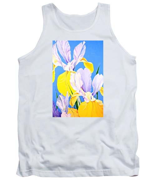 Yellow Irises-posthumously Presented Paintings Of Sachi Spohn  Tank Top