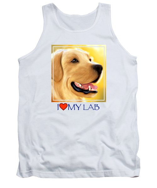 Yellow Lab Portrait Tank Top