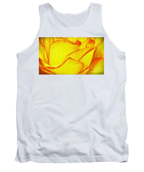 Yellow Rose Abstract Tank Top