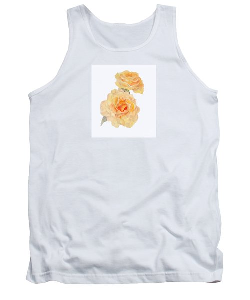 Tank Top featuring the painting Yellow Roses by Beatrice Cloake