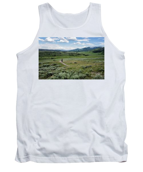 Tank Top featuring the photograph Yellow Stone Mountains by Mae Wertz