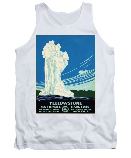 Yellow Stone Park - Vintage Travel Poster Tank Top by Ipa