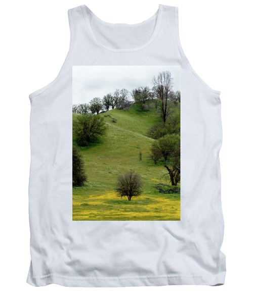 Yellow Wildflowers And Oak Trees Tank Top by Roger Mullenhour