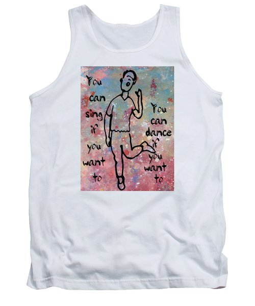 Yes You Can Tank Top by John Fish