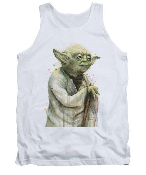 Yoda Portrait Tank Top by Olga Shvartsur