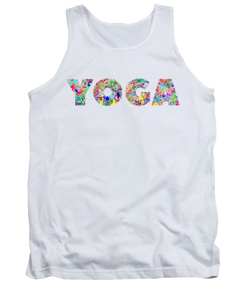 Yoga Word Art Tank Top