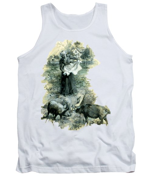 Tank Top featuring the photograph Yohn Pigs  by Robert G Kernodle