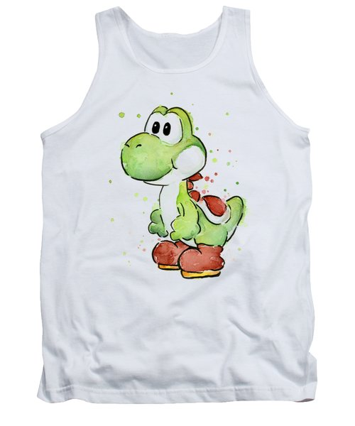 Yoshi Watercolor Tank Top by Olga Shvartsur