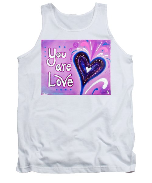 Tank Top featuring the painting You Are Love Purple Heart by Bob Baker and Pooki Lee