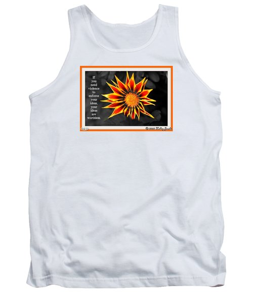 Tank Top featuring the digital art You Are Not Worthless by Holley Jacobs