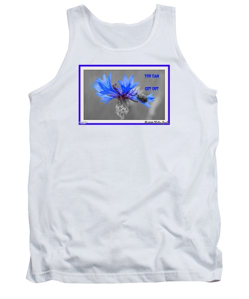 Tank Top featuring the digital art You Can Get Out by Holley Jacobs