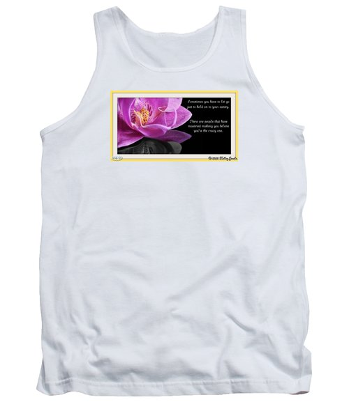 Tank Top featuring the digital art You Have To Let Go by Holley Jacobs